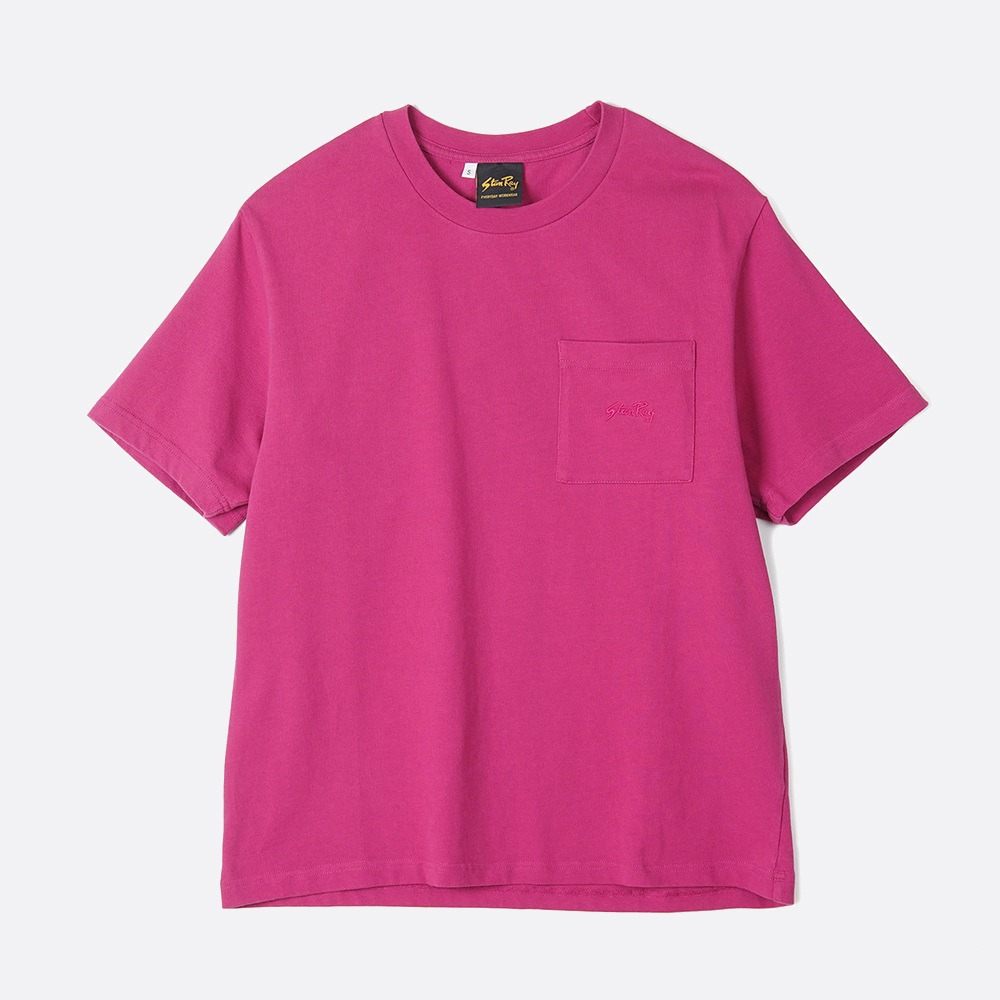 Patch Pocket T-Shirt - Purple Pink