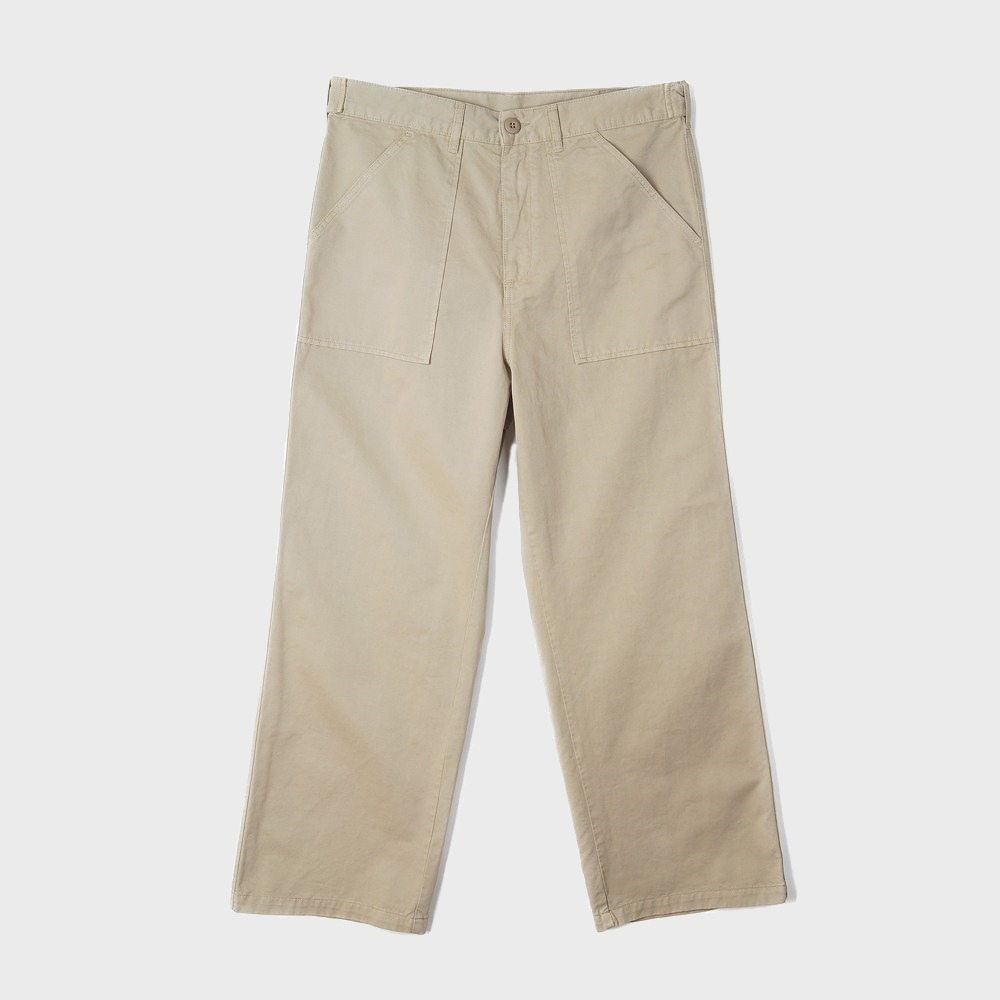 Wide Leg Fatigue - Khaki