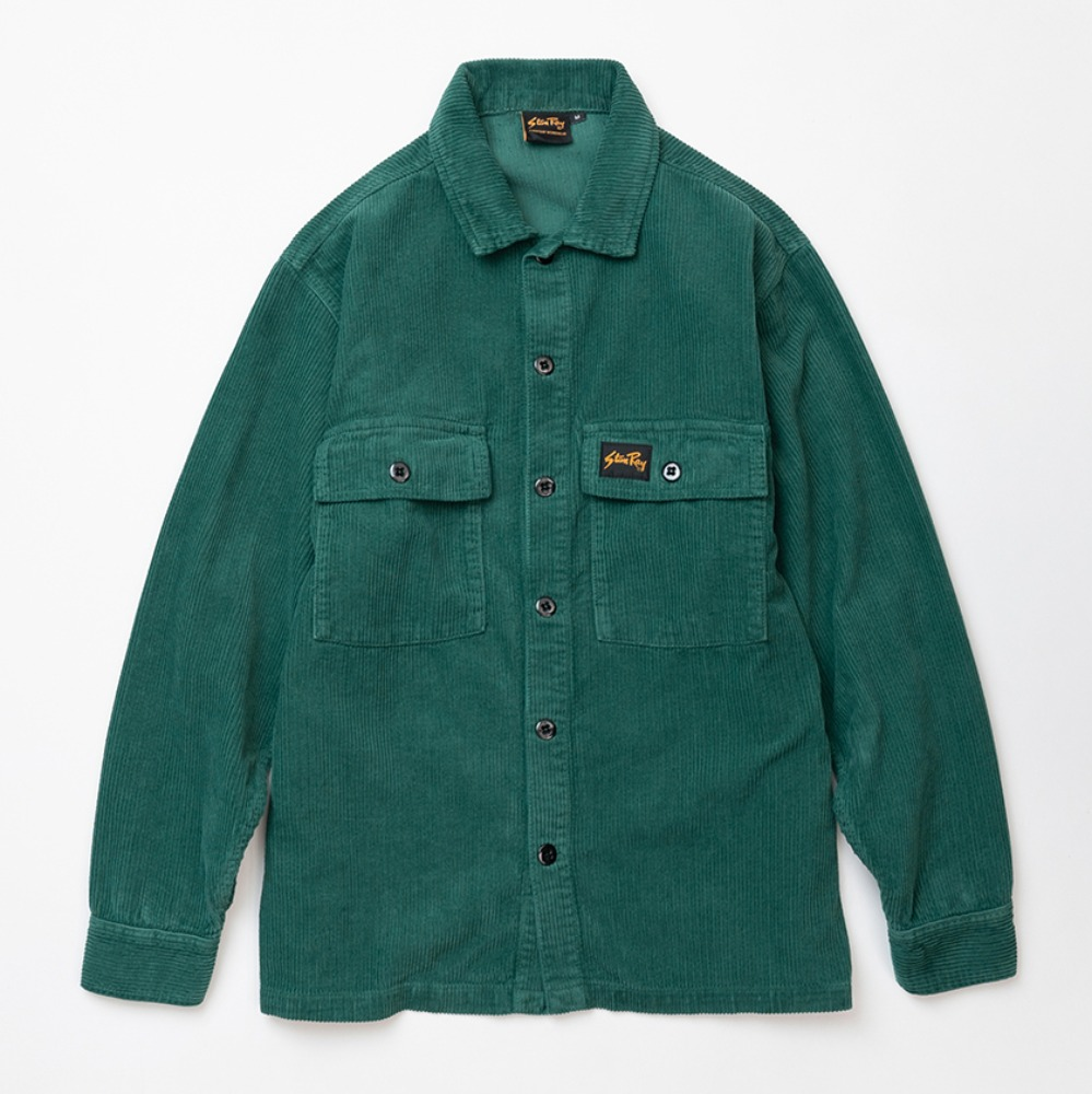 Cord CPO Shirt - Indian Green Cord