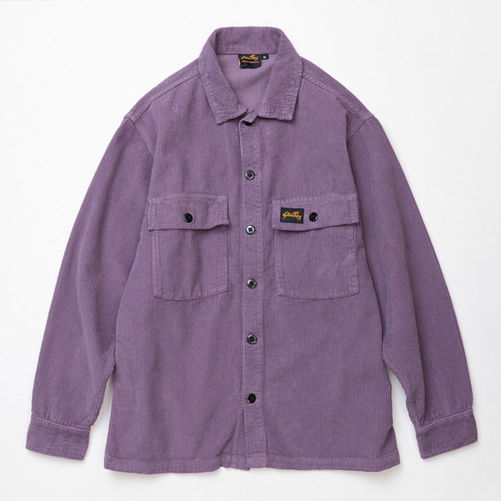 Cord CPO Shirt - Crushed Purple Cord