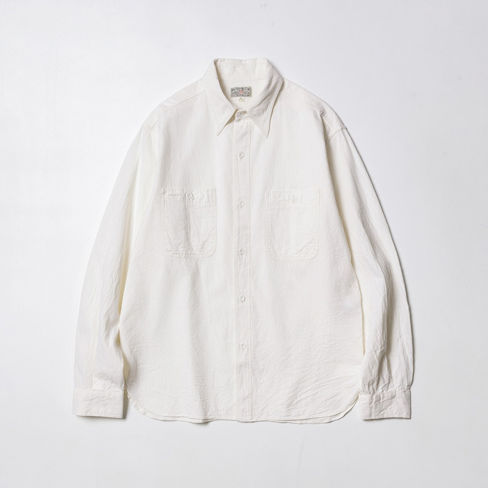 White Chambray Work Shirts - Off White