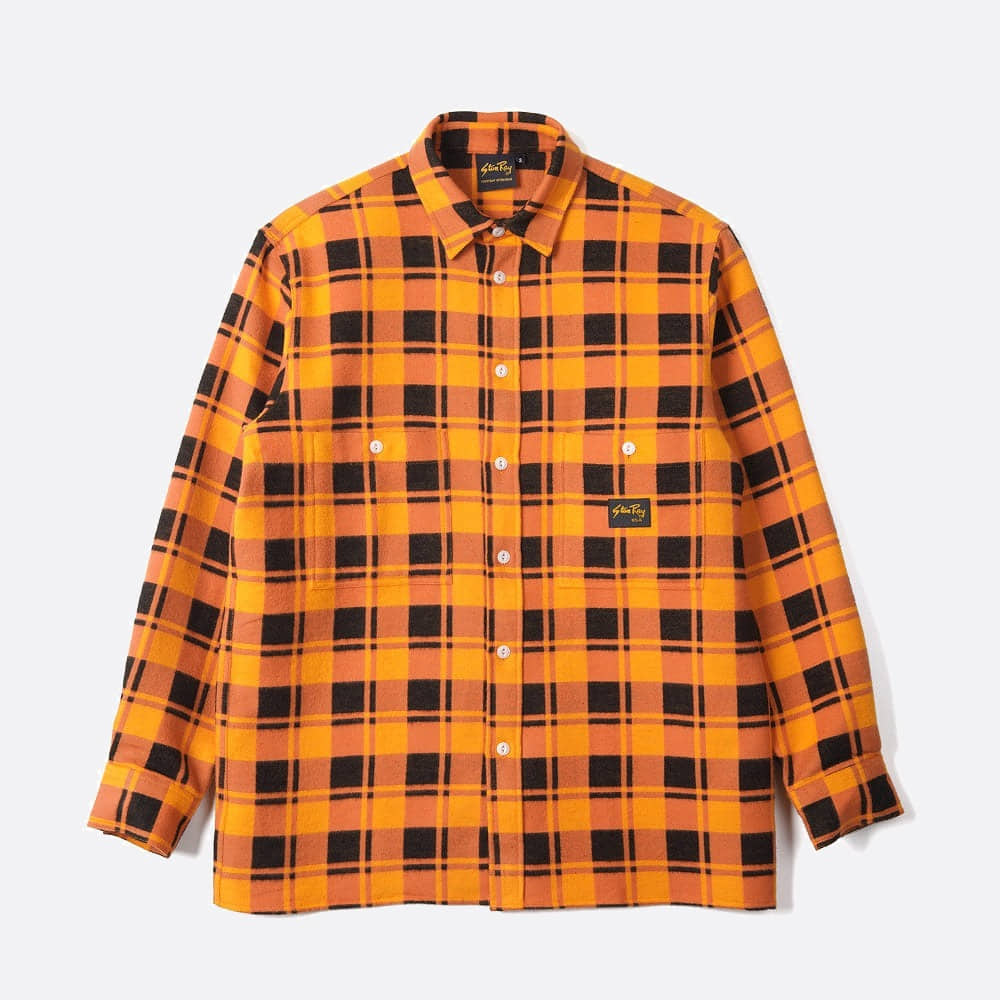 Flannel Shirt - Burnt Orange