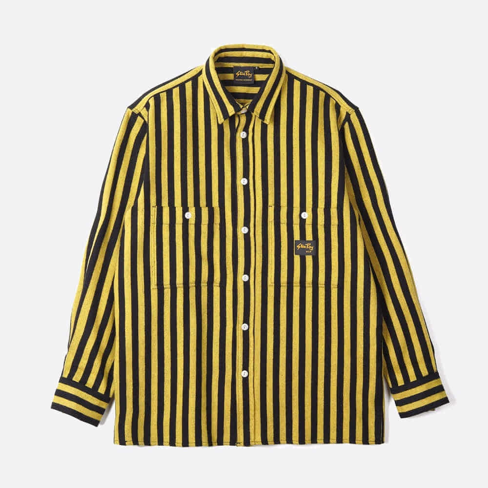 Flannel Shirt - Old Yellow Stripe