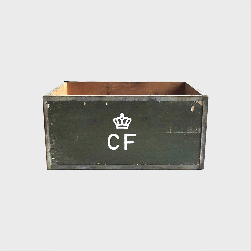 Storage Wood Box CF Large - Olive