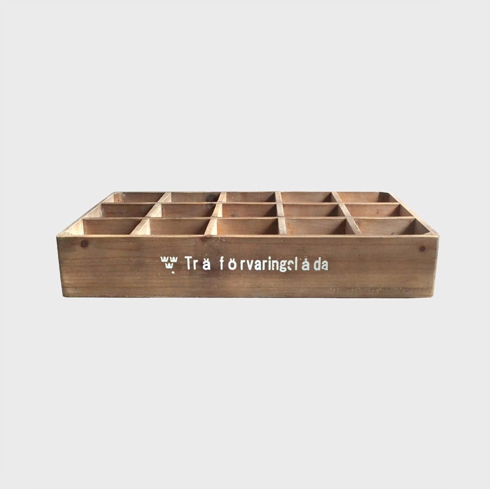 Wood Colletion Box 15spt SWD - Natural