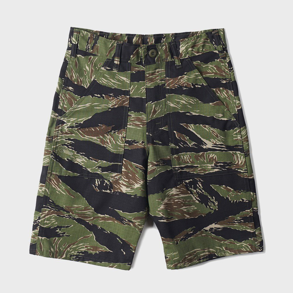 4 Pocket Fatigue Short 5579 - Green Tigerstripe Ripstop