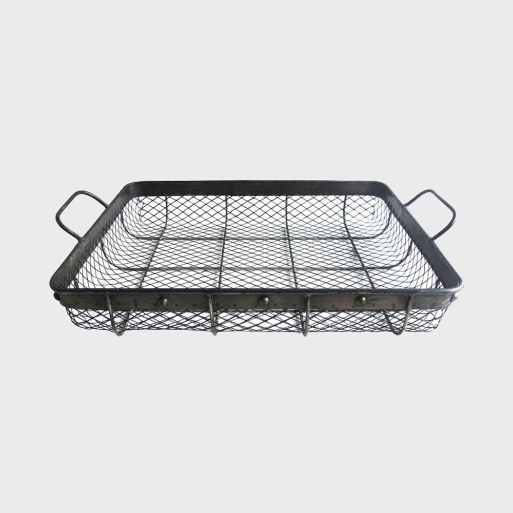 6161 Mesh Basket Large - Iron